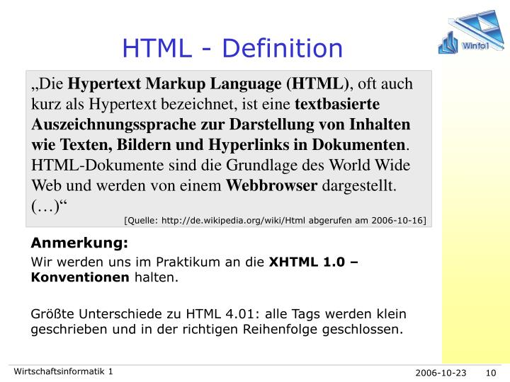 HTML - Definition