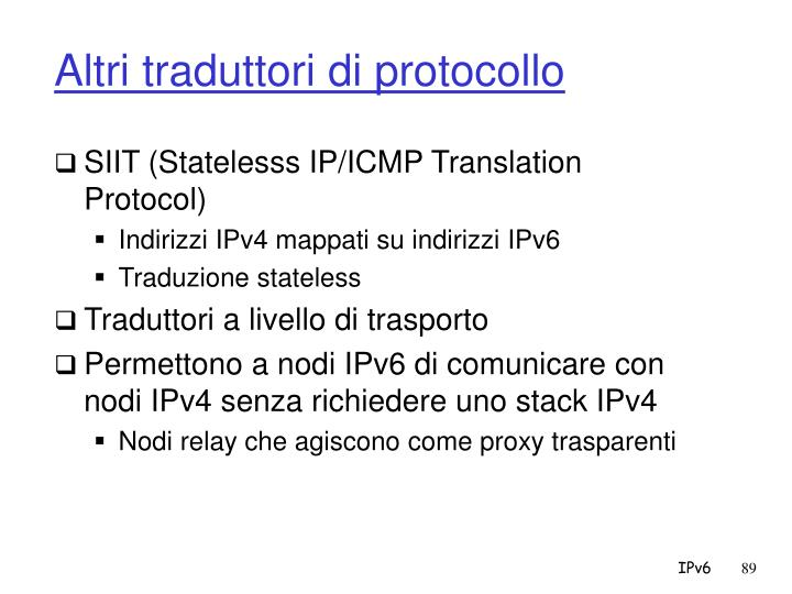 Altri traduttori di protocollo