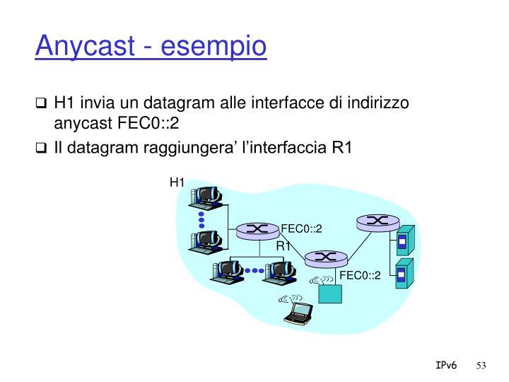 Anycast - esempio