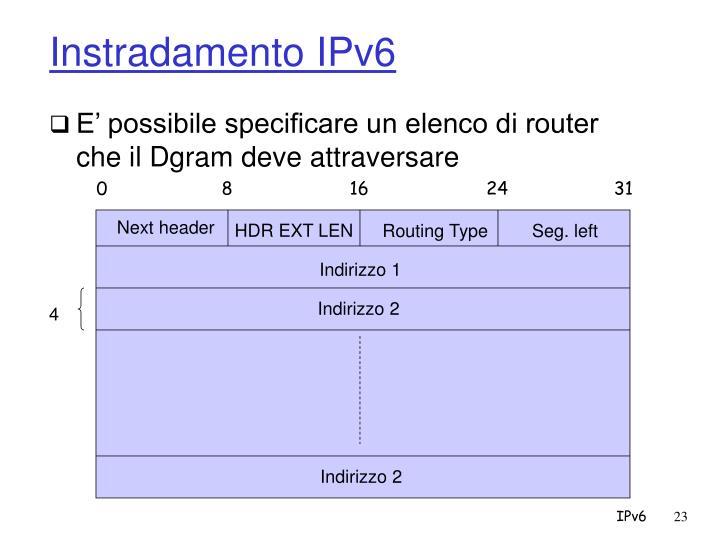 Instradamento IPv6
