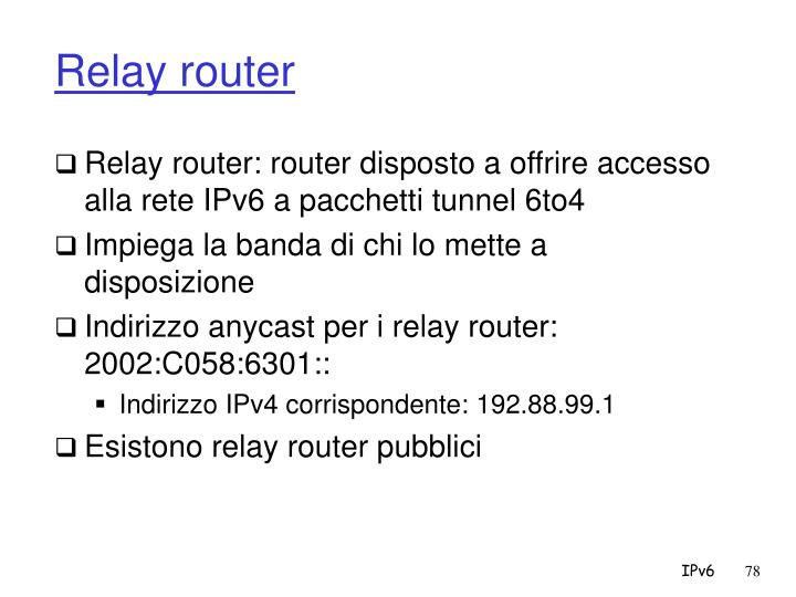 Relay router