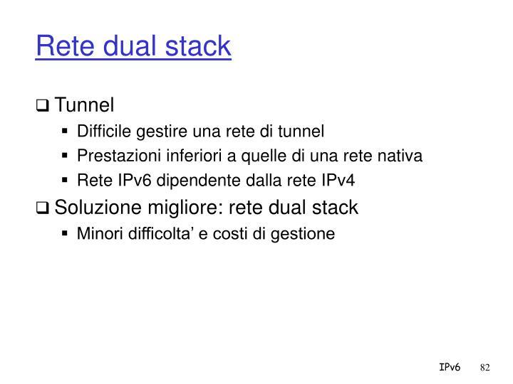 Rete dual stack