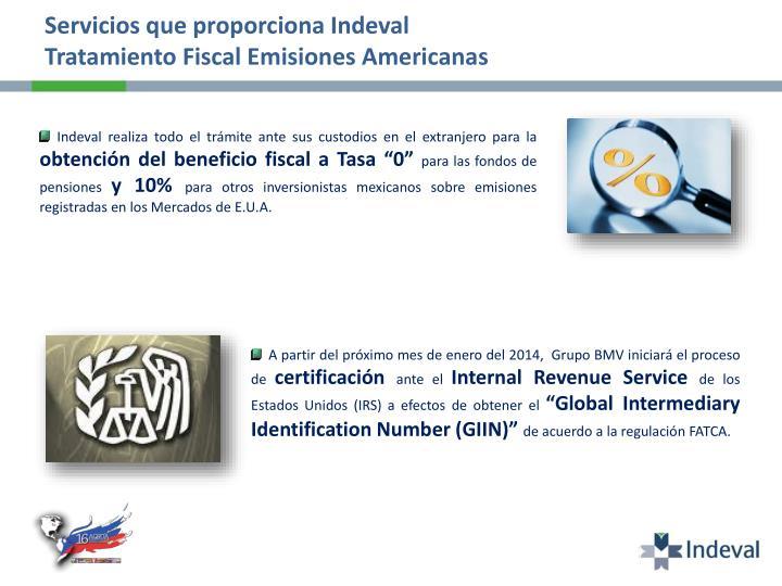 Servicios que proporciona Indeval