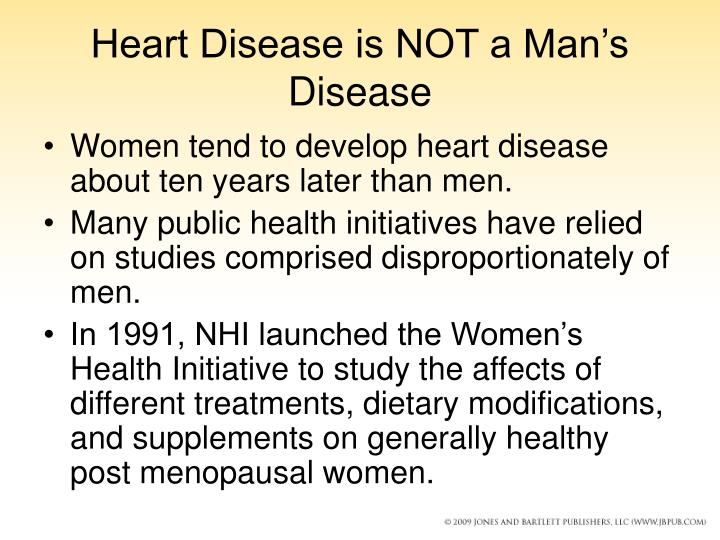 Heart Disease is NOT a Man's Disease