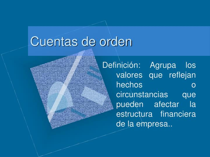 Cuentas de orden
