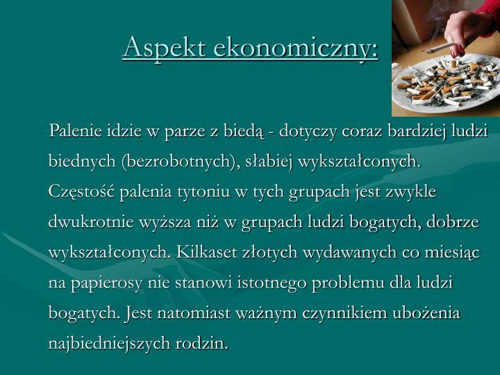 Aspekt ekonomiczny: