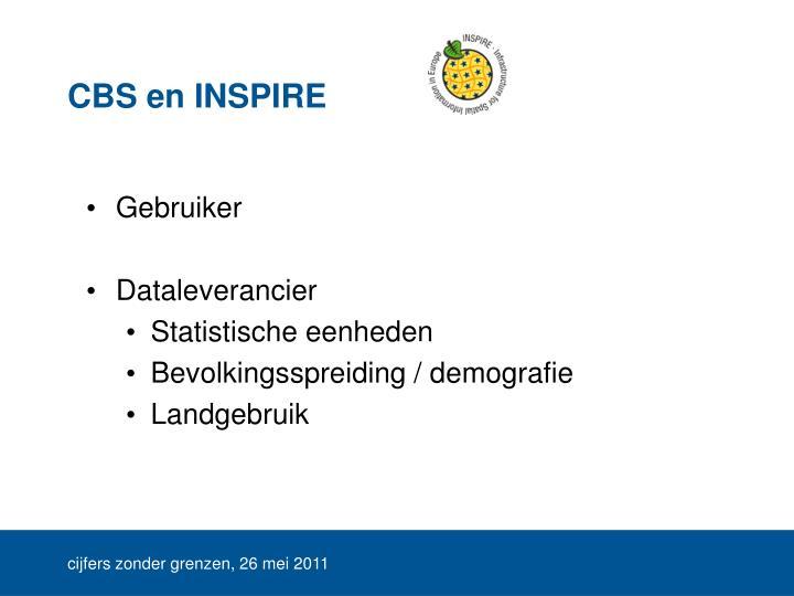 CBS en INSPIRE
