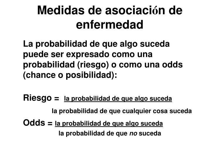 Medidas de asociaci