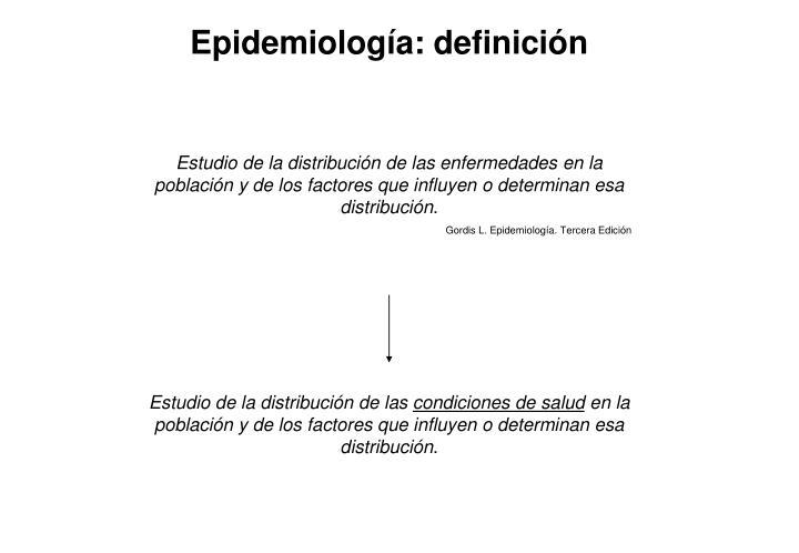 Epidemiología: definición