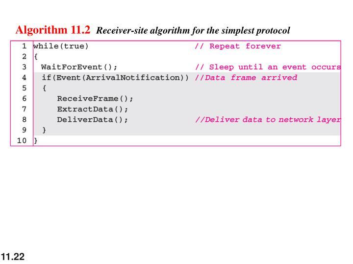 Algorithm 11.2