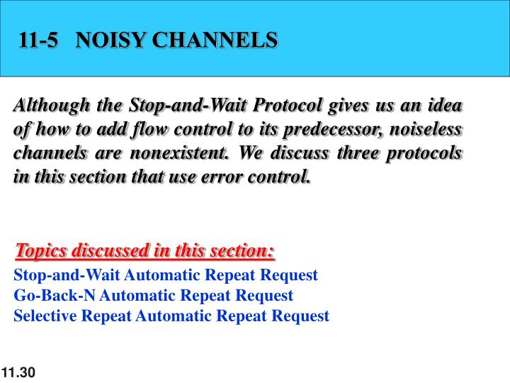 11-5   NOISY CHANNELS