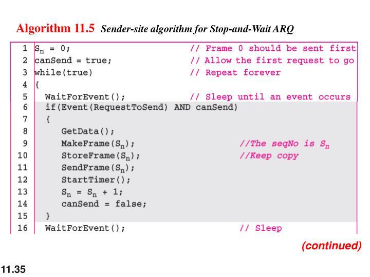 Algorithm 11.5
