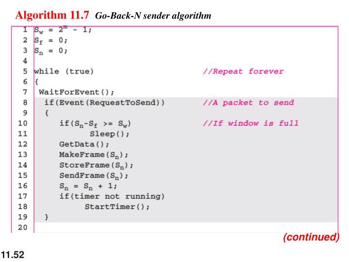 Algorithm 11.7