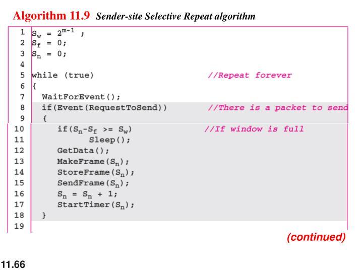 Algorithm 11.9