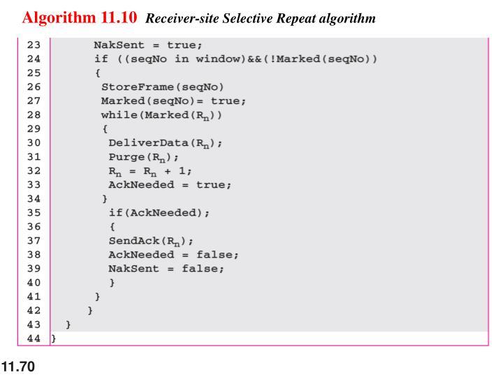 Algorithm 11.10