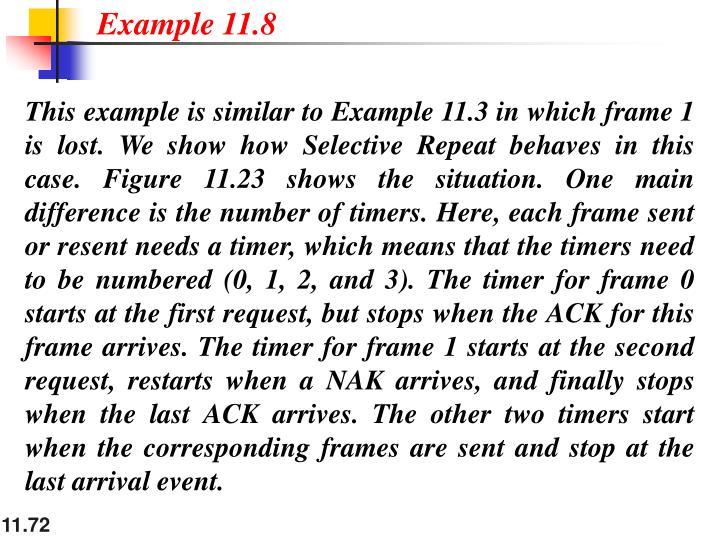 Example 11.8