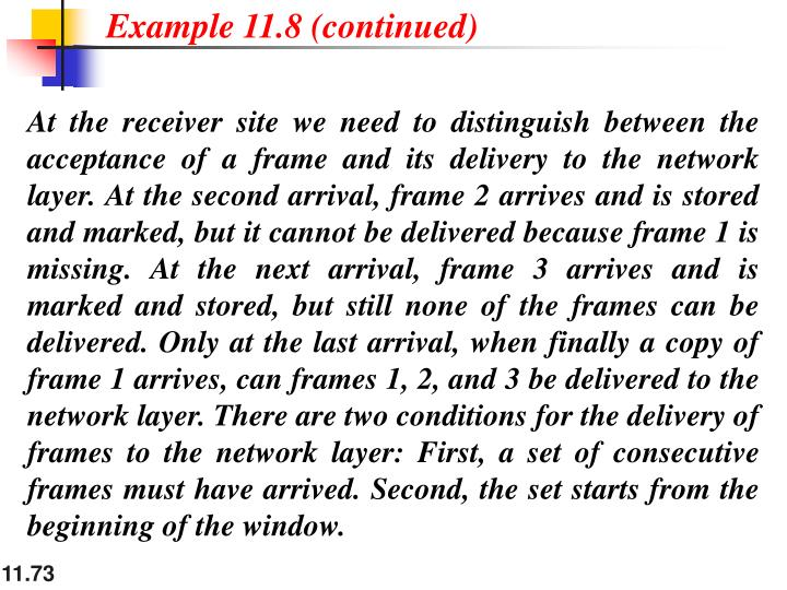Example 11.8 (continued)