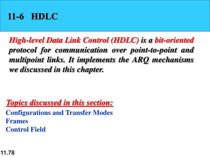 11-6   HDLC