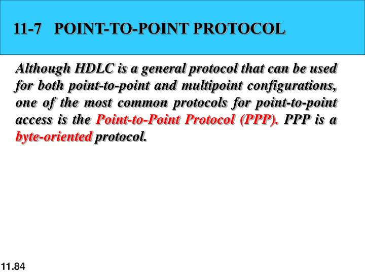 11-7   POINT-TO-POINT PROTOCOL