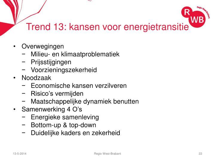Trend 13: kansen voor energietransitie