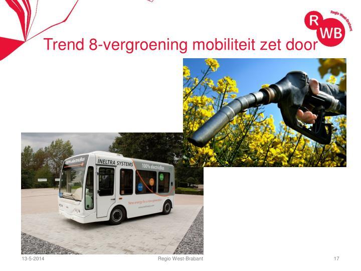 Trend 8-vergroening mobiliteit zet door