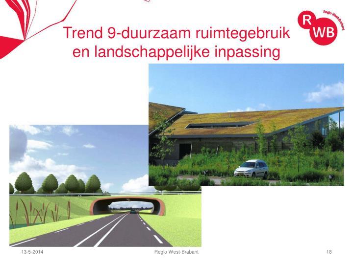 Trend 9-duurzaam ruimtegebruik