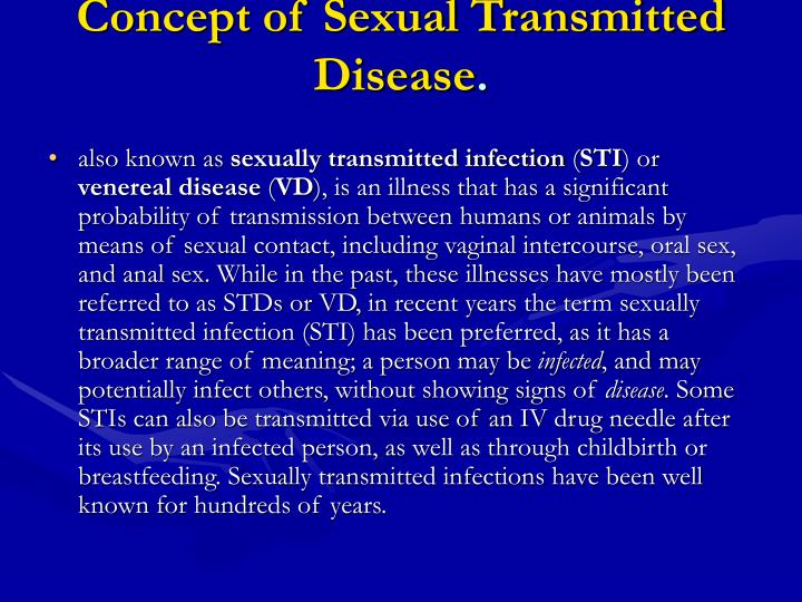 an overview of the major sexually transmitted illnesses About this quiz & worksheet students who want to check their understanding of sexually transmitted disease types can take this quiz/worksheet to help.