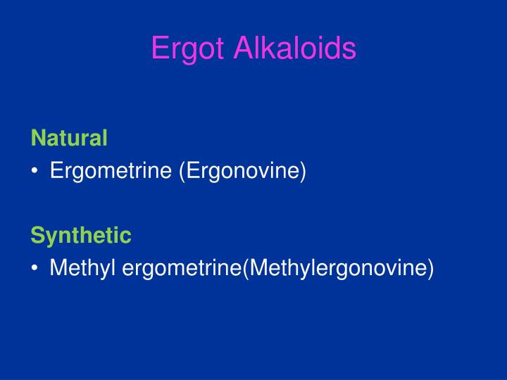 Ergot Alkaloids