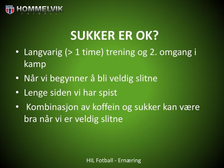 SUKKER ER OK?