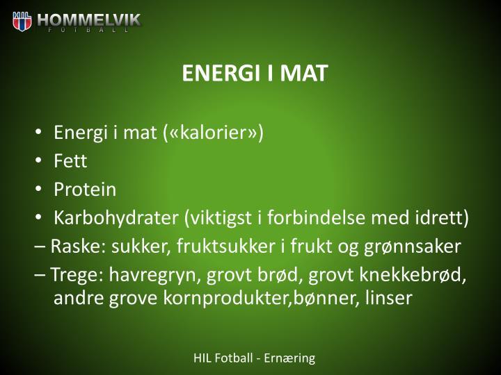 ENERGI I MAT