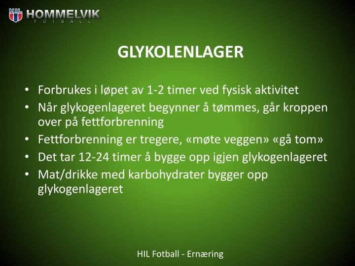 GLYKOLENLAGER