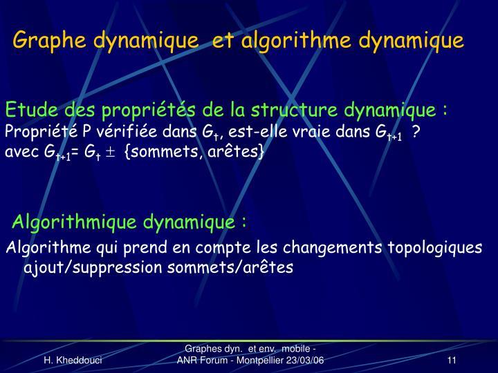 Graphe dynamique  et algorithme dynamique