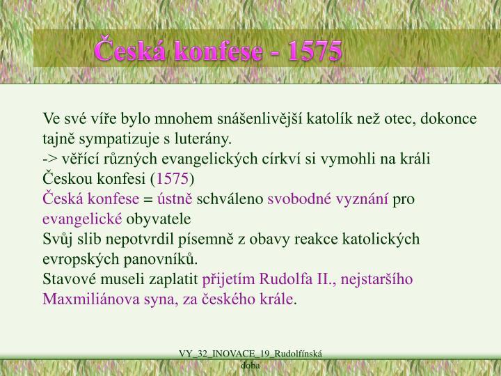 Česká konfese - 1575