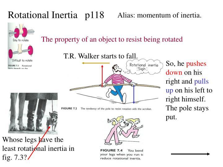 Rotational Inertia   p118