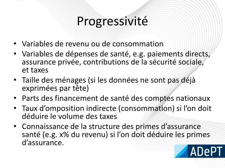 Progressivité