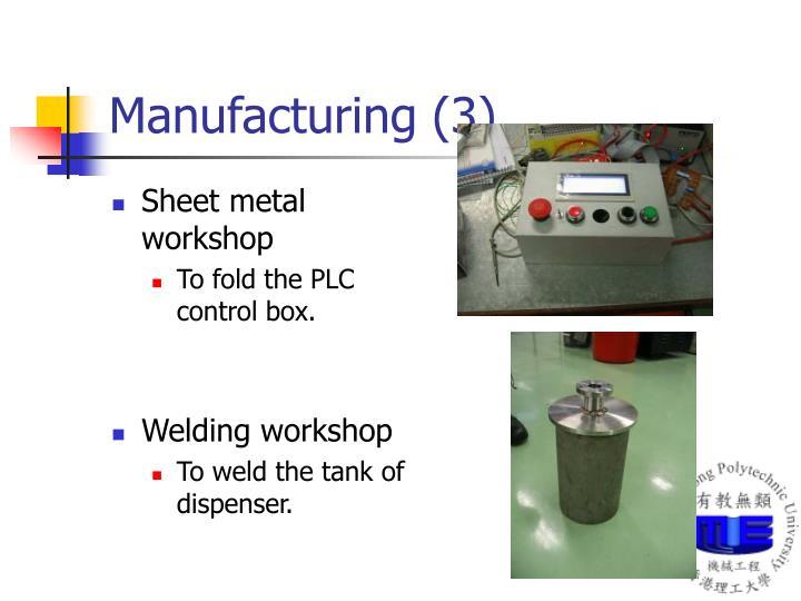 Manufacturing (3)
