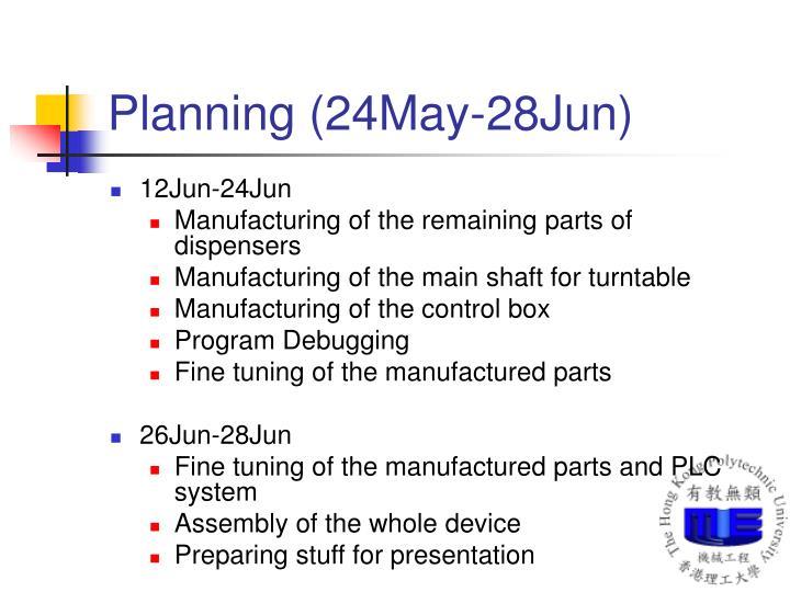 Planning (24May-28Jun)