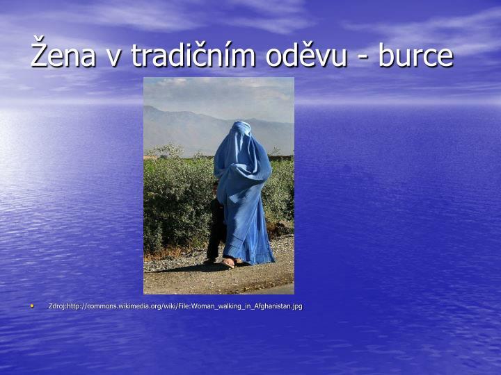 Žena v tradičním oděvu - burce