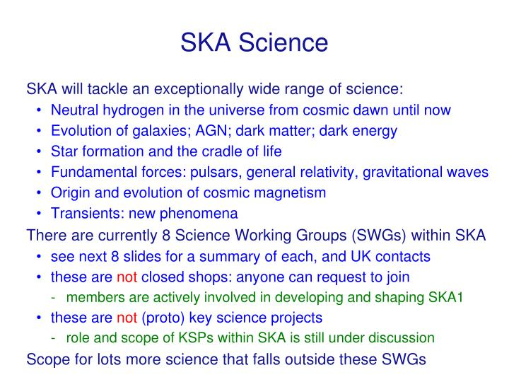 SKA Science