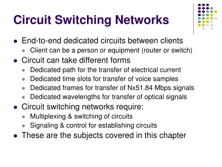 Circuit switching networks