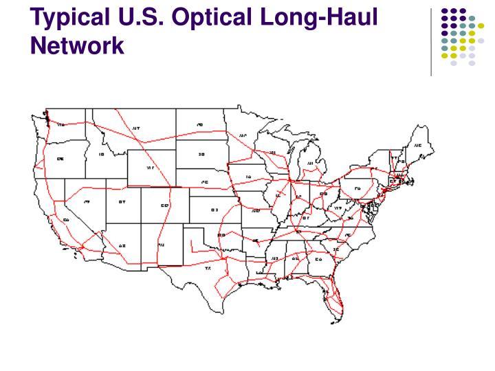 Typical U.S. Optical Long-Haul Network