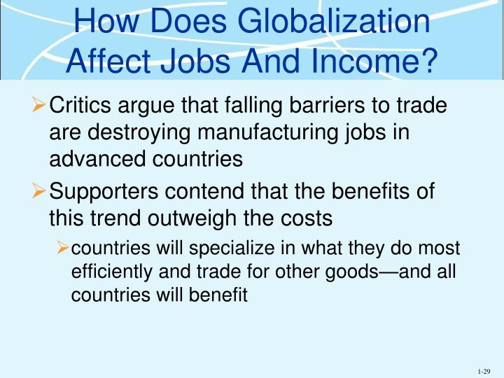 How Does Globalization Affect Jobs And Income?