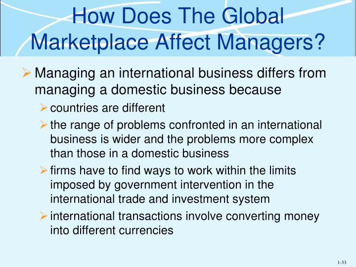 How Does The Global Marketplace Affect Managers?