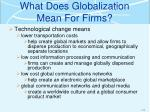what does globalization mean for firms1