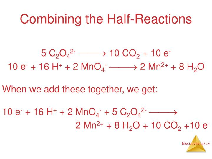 Combining the Half-Reactions