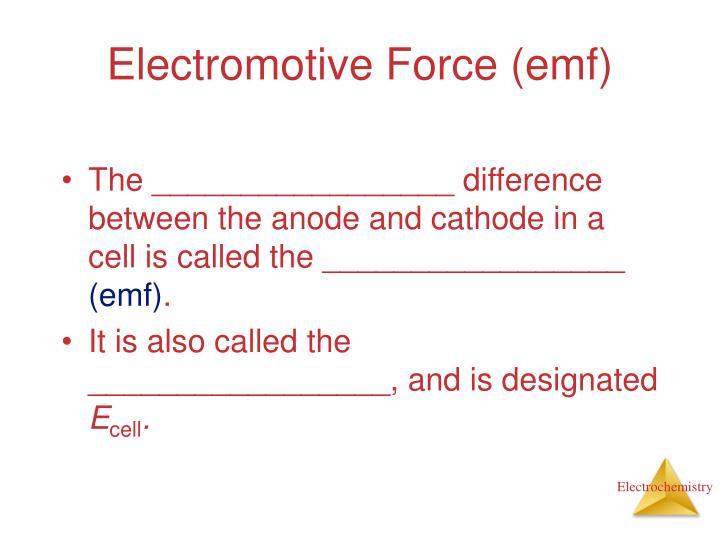 Electromotive Force (emf)