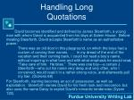 handling long quotations