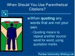 when should you use parenthetical citations