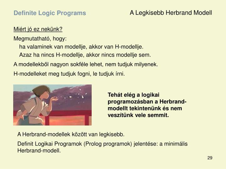 A Legkisebb Herbrand Modell