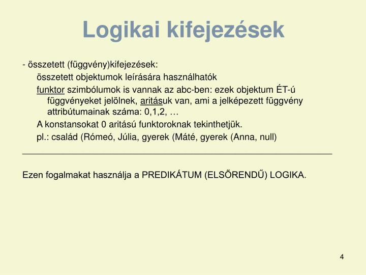 Logikai kifejezések